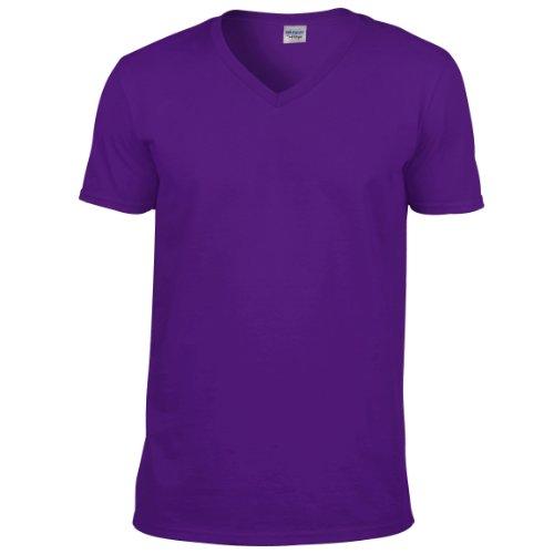 Shirt Style neck Nero V T Soft Gildan Uomo qXtZxAw55n