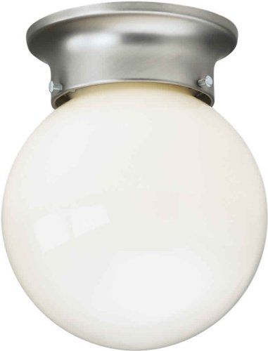 Forte Lighting 6004-01 Functional Flushmount Ceiling Fixture from the Close to Ceiling Collection, Brushed Nickel