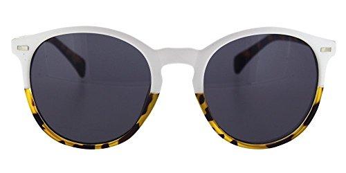 en unisex; en y carey de redonda ahumada sol con y Paraiso regalo blanco chico funda con gafa para chica Gafas o lente de y bicolor w8XF8Rq