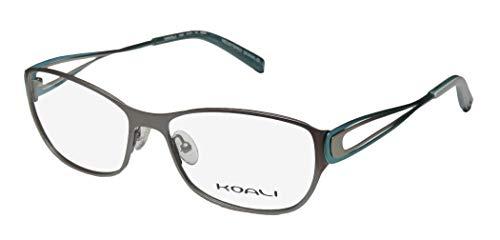 Koali 7259k Womens/Ladies Rx-able Adult Size Designer Full-rim Eyeglasses/Eyeglass Frame (54-16-135, Gray / Aqua) (Aqua-brillen Frames)