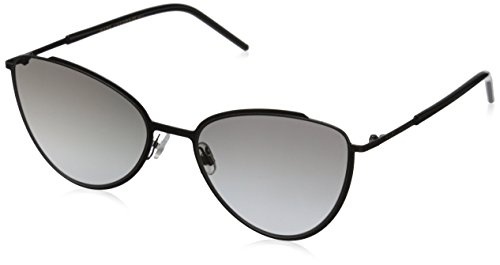Marc Jacobs MARC33S Cateye Sunglasses, Shiny Black/Gray Gradient, 56 - Sunglasses Marc