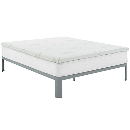 Modern Contemporary Urban Design Bedroom Full Size 2inch Memory Foam Mattress, White, Fabric by America Luxury - Bedroom