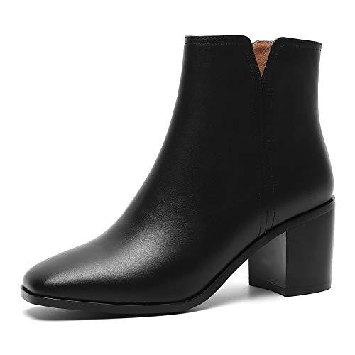 Biker Mujer Elegantes Annieshoe Negro Boots Botas Otoño wzg7x7AT