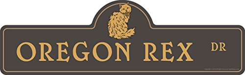 SignMission Oregon Rex Street Sign | Indoor/Outdoor | Dog Lover Funny Home Décor for Garages, Living Rooms, Bedroom, Offices Personalized Gift | 18