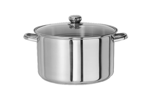 ries Stainless-Steel 8-Quart Stockpot with Tempered Glass Lid 29208 (Classicor Cookware)