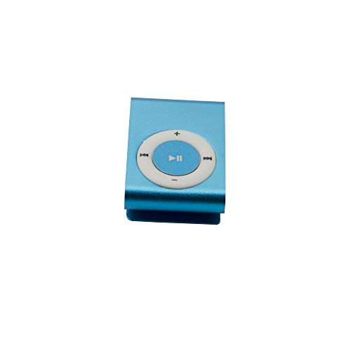 Multimedia MP3 Music Player & USB Flash Disk Deluxe Mp3 Player USB Charging Port - Easy to Clip - Blue