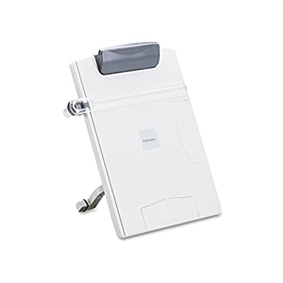 Fellowes Easel-Style Desktop Letter / Legal / Wide-Form Copyholder - Platinum