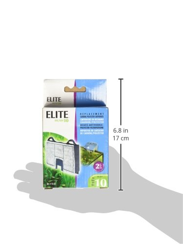 Amazon.com : Elite Carbon Cartridge for Hush 10 Power Aquarium Filter, 2-Pack : Aquarium Filter Accessories : Pet Supplies