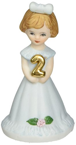 "Enesco Growing Up Girls ""Brunette Age 2"" Porcelain Figurine, 7.5"" - Porcelain Girl"