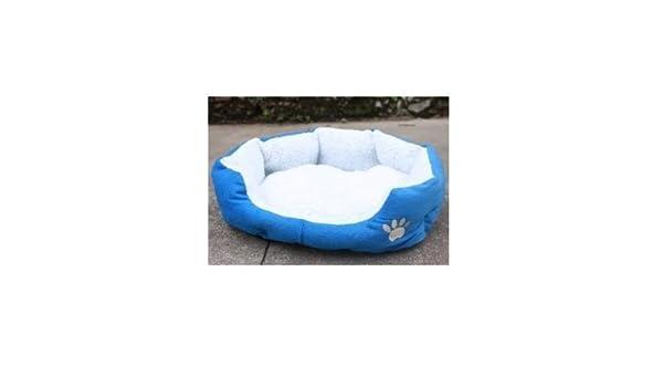 Danapp - Cama de forro polar con forma redonda u ovalada para perros y gatos: Amazon.es: Productos para mascotas