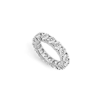 Five Carat Cubic Zirconia Eternity Band In 14k White Gold Fifth