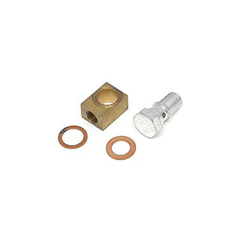 Eckler's Premier Quality Products 57132457 Chevy Brake Master Cylinder Brass Block & Banjo Bolt - Brake Bolts Block
