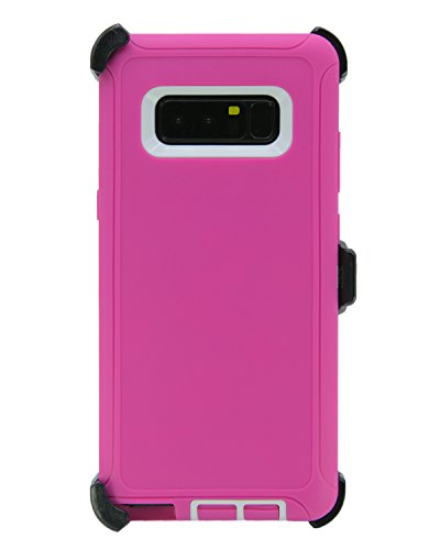 WallSkiN Turtle Series Cases for Samsung Galaxy Note 8 (Only) Tough Protection with Kickstand & Holster - Sweet (Pink/White)