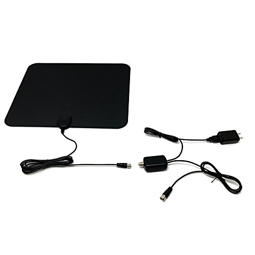DreamWeaver - Indoor Omnidirectional Amplified HDTV Digital Antenna - Small Ultra Multidirectional USB HD TV Tuner - 50 to 60 Mile Range - Flat and Thin - Portable with Amplifier