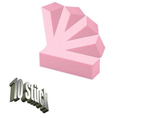Star Naildesign & Cosmetics - Set di buffer per unghie, 10 pezzi, colore: rosa 2929
