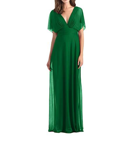 Abendkleider A Linie Grün mia Partykleider Brautjungfernkleider Lang Chiffon Promkleider La Elegant Braut Festlichkleider WXSn7vPB