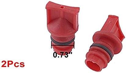 LAQI 2pcs Rouge connecteur dhuile en Plastique de pi/èce de Rechange de compresseur dair 18mm