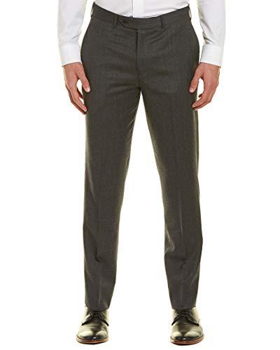 Brooks Brothers Mens Regent Fit Wool Pant, 36/34, Grey