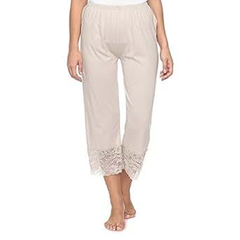 Mark-On Grey Straight Capris Pant For Women