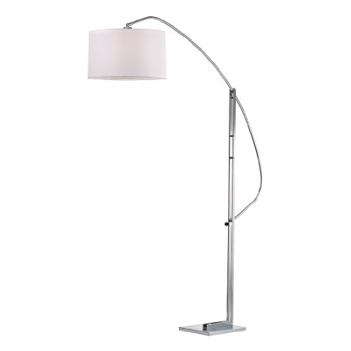 - Dimond Lighting D2471 Functional Arc Floor Lamp, Polished Nickel, 73