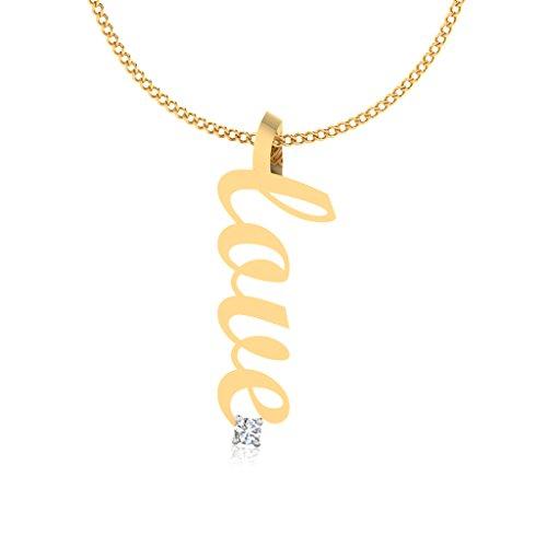 IskiUski 18KT Gold and Diamond Pendant for Women