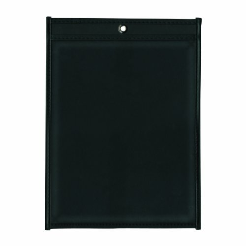 ADVANTUS Job Ticket Holders, 11 x 17 Inches, Clear Cover, Black Back, 25-Count (Poly Shop Ticket Holders)