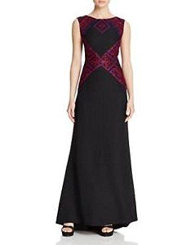 Tadashi Shoji Red Rock Multi Woven Applique Gown Size 8