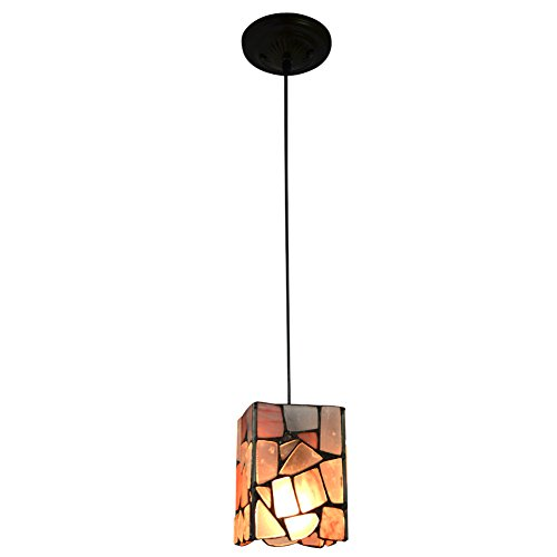 Pendant Light NMJ110, Warm Light, Agate Seeded Glass Shade and