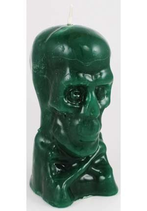 "Ritual Green Skull candle 5"" - Break Bad Luck - Calavera Verde"