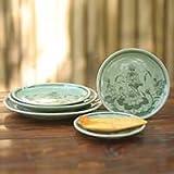 'Lotus Eden,' plates (set of 5)