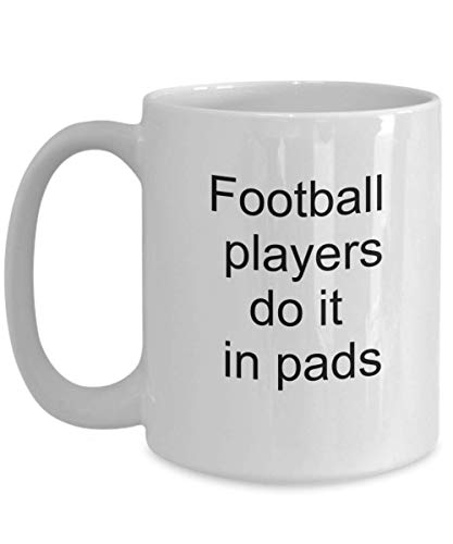Football players do it in pads, White Ceramic Coffee Mug  Do it  - Duck Football Player