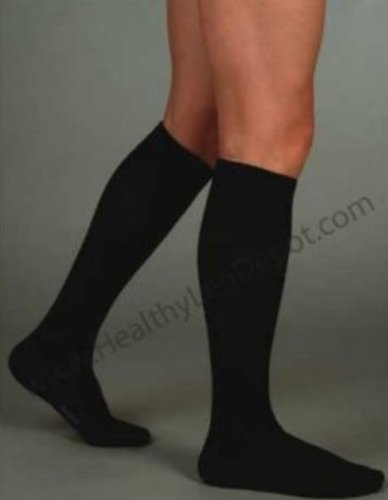 Juzo Silver Sole Knee Sock 12-16mmHg Closed Toe, M, Black by Juzo B004GLASBK