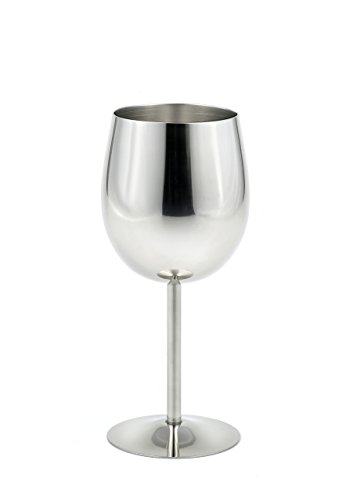 StainlessLUX 73344 Brilliant Stainless Steel Wine Glass / Wine Tasting Goblet - Quality Drinkware for Your Enjoyment (Wine Glasses Stainless Steel compare prices)