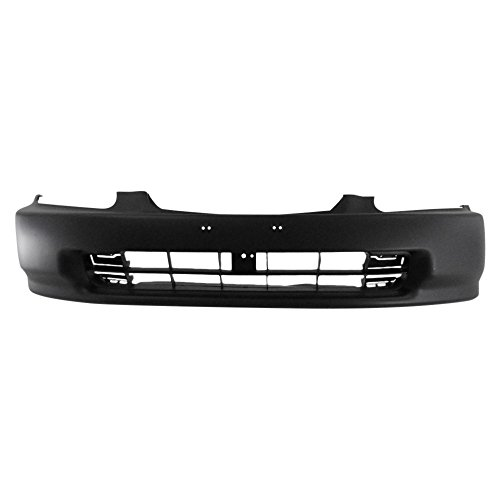 Titanium Plus 1996-1998 Honda Civic Front Bumper Cover PRIME BLACK