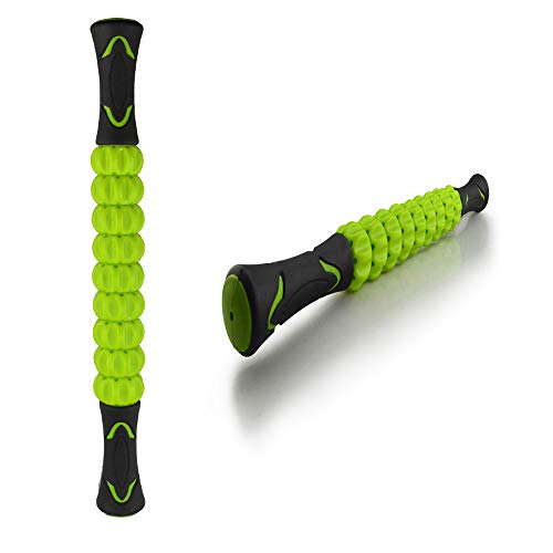 Muscle Stick, Massage Rolling Stick Recovery Stick for Athlete Relief- Sore Muscle, Cramping, Tightness Recovery Prevent Cramps Lightweight and Smooth Rolling 17.8'*1.8' (Green)