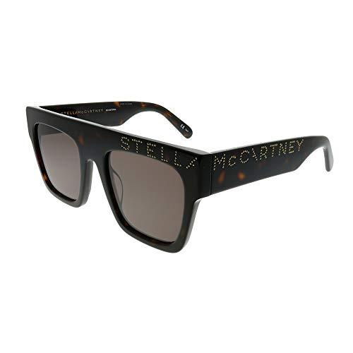 Stella McCartney SC 0170S 005 Havana Plastic Rectangle Sunglasses Brown Lens ()