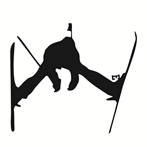 zxldsjhd Children Favorite Sport Silhouette Ski Jump Wall Stickers PVC Home Decor for Sofa Background Wall Decals Snowboard Skiing Decor 56X66Cm