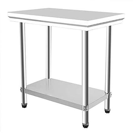 Yogatada 80x50x85cm Banco da Lavoro per Cucina 2 Strati Tavolo per ...