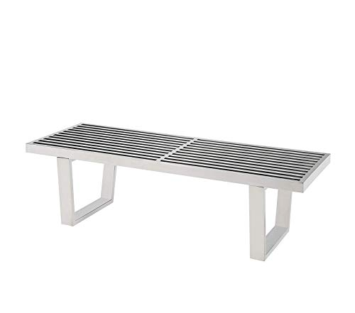 (Mоdwаy Sauna Stainless Steel 4' Bench in Silver)