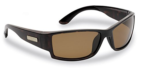 Flying Fisherman Razor Polarized Sunglasses, Dark Tortoise Frame, Amber - Angler Sunglasses
