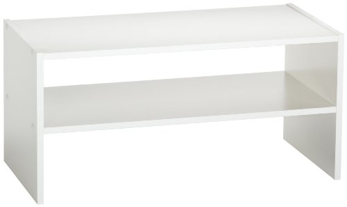 ClosetMaid 8993 Stackable 24-Inch Wide Horizontal Organizer, White - Laminate Rack