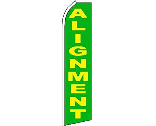 ALBATROS Alignment Green Yellow Swooper Super Feather Advertising Marketing Flag for Home and Parades, Official Party, All Weather Indoors -