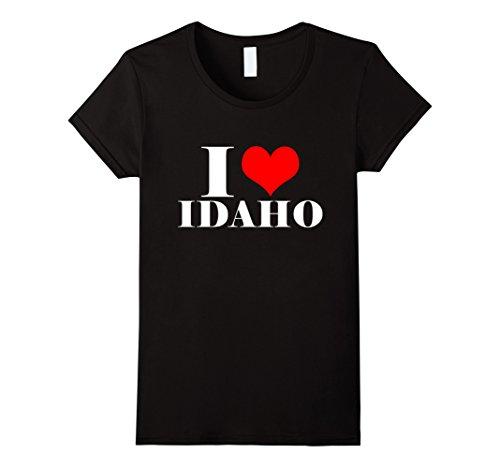 Womens I Love Idaho T Shirt   I Heart Idaho Tee Usa Shirt Medium Black