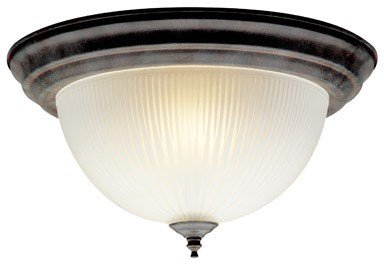 Westinghouse Flush Mount Ceiling Fixture A19 B13 13-1/2 In. Dia Sienna Bx 2 Light