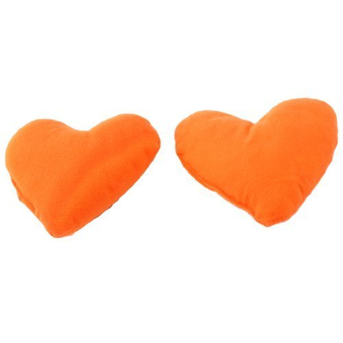 Water & Wood 2 Pcs Orange Hearts Pet Dog Puppy Cute Neck Pillow Headrest Pad Toy For Sale