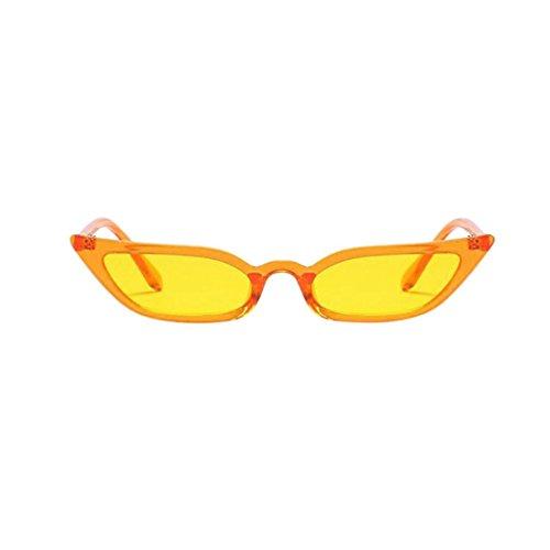 Eye Amarillo Moda Eyewear Cat mujer retro UV400 Sunglasses Vintage pequeño marco Rawdah gPOIaqq