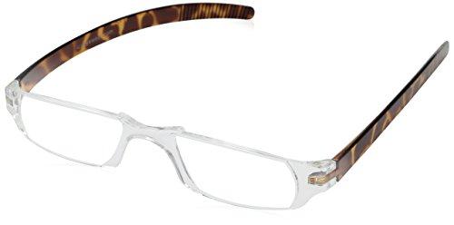 Dr. Dean Edell Slim Vision Reading Glasses, Tortoise (+2.00)