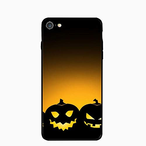 Halloween Pumpkins Background iPhone 6S Case/iPhone 6 Case Rubber Shockproof Cover Compatible iPhone 6 / -