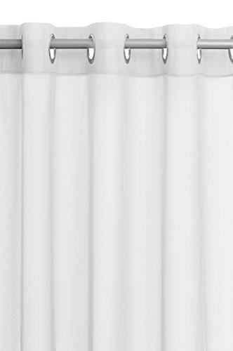 Vorhang Gardine Transparent Ösenschal in Weiss 140x245cm Dekoschal Ösen