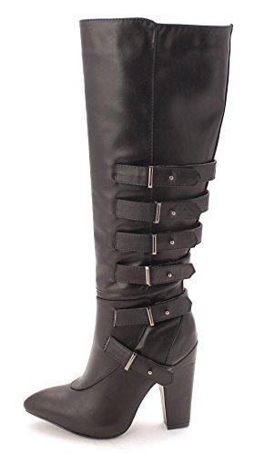 Gewoon Fab Dames Jf Harley Gesloten Teen Mid-kalf Mode Laarzen Zwart